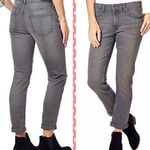 NWT Calvin Klein Women's Slim Boyfriend Gray Jeans